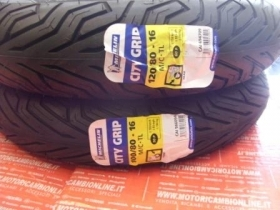 Coppia Pneumatici Michelin City Grip 120/80-16 + 100/80-16 Aprilia Scarabeo 125 e 200 LIGHT 2006 AL 2012 Anteriore PIU' Posterio